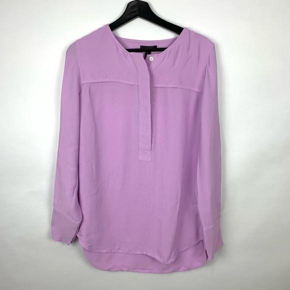 J. Crew Tops - J. Crew Crepe Purple NWT Business Tunic Shirt SZ 6